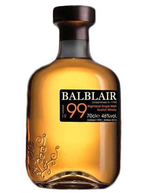 BALBLAIR VINTAGE 1999 HIGHL. WHISKY 070