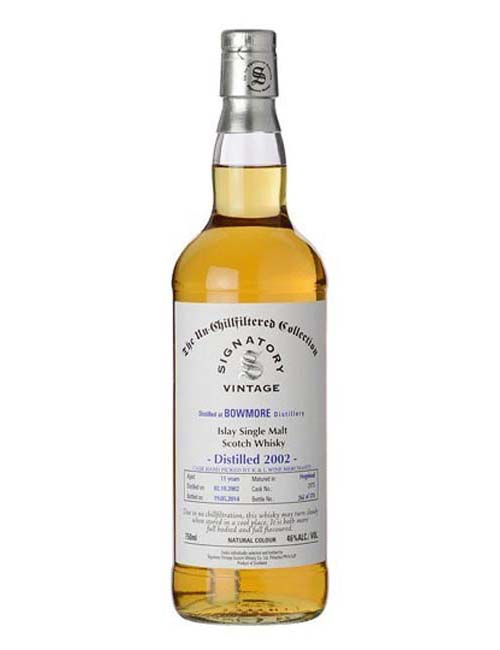 SIGNATORY BOWMORE 2002 WHISKY 070 UNCHILLFILTERED