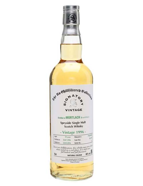 SIGNATORY MORTLACH 1996 WHISKY 070 UNCHILLFILTERED