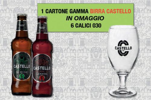 Promozione birra Castello omaggio bicchieri