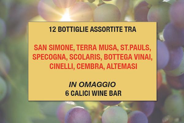 Promo bottiglie vino assortite